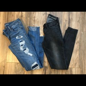 2 pairs of jeans sz 3/4